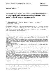 The rise in legal highs - Club Health 2011 Prague