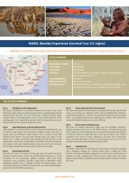 NAM2. Namibia Experience Escorted Tour (11 nights).pdf - SW Africa