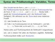 Syntax der Prädikatenlogik: Variablen, Terme