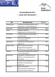 """Kreiswettbewerb 2011 - """"Unser Dorf hat Zukunft"""" - - Kreis Paderborn"""
