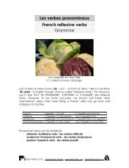 grammar premium's worksheet on reflexive verbs - French Etc