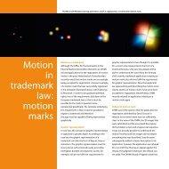 Motion in trademark law: motion marks - Nederlandsch Octrooibureau