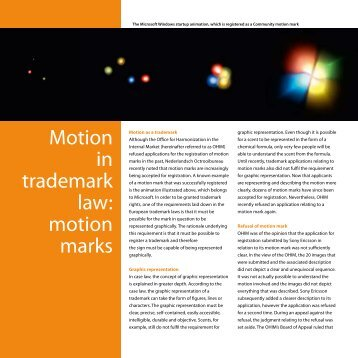 Motion in trademark law: motion marks - Nederlandsch Octrooibureau