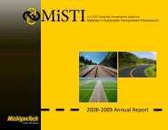 2008-2009 Annual Report - MiSTI - Michigan Technological University