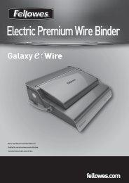 Galaxy eWire Manual - Fellowes