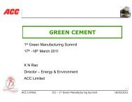 GREEN CEMENT - CII