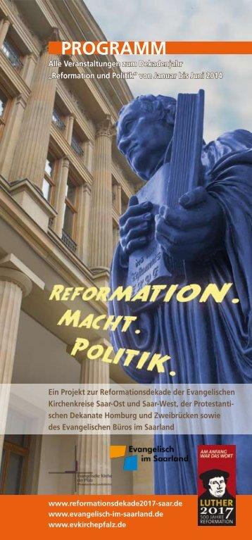 Programmheft Reformation 01/2014 - Evangelische Kirche im ...