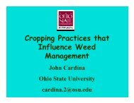 Cropping Practices Influence on Weeds