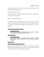 Council Minutes Monday, September 17, 2012 - City of St. John's