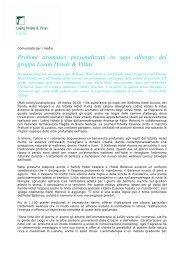 Download comunicato per i media (.pdf) - Lošinj Hotels & Villas