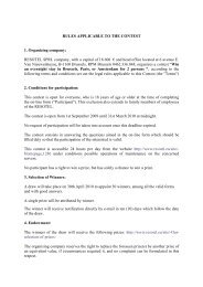 RULES APPLICABLE TO THE CONTEST 1 ... - Colloquium