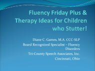 Fluency Friday Plus & Therapy Ideas for Children who Stutter!