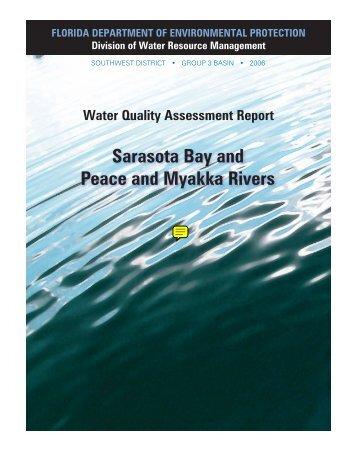 Sarasota Bay and Peace and Myakka Rivers - Florida Department of ...