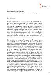 Blechblasintrumente - Tübinger Musikschule