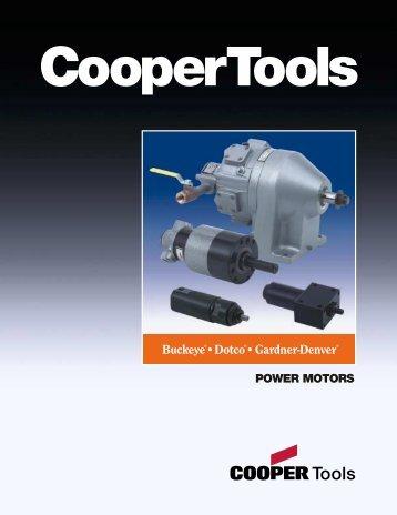 Buckeye, Dotco, Gardner-Denver Power Motors ... - Tecno Italia s.r.l