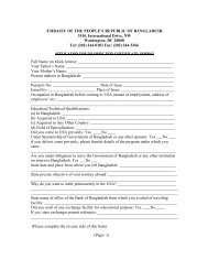 No Objection Certificate - The Embassy of Bangladesh in ...