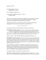 September 12, 2007 To - Mortgage Lending Division