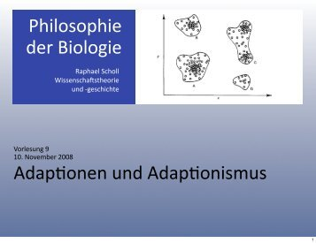 empirischer Adapflonismus - Wissenschaftstheorie und
