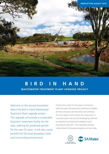 Bird in Hand wastewater treatment plant updgrade project - SA Water