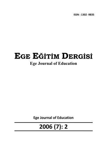 EGE EĞİTİM DERGİSİ 2006 (7): 2 - Eğitim Fakültesi - Ege Üniversitesi