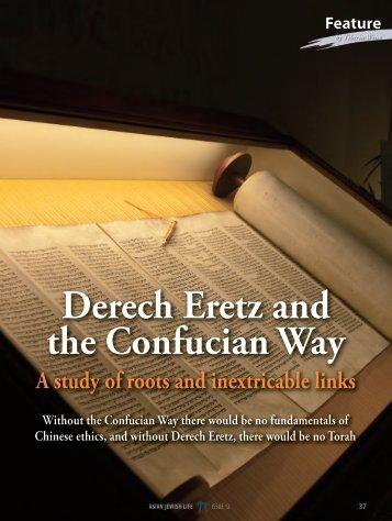 Derech Eretz and the Confucian Way - Asian Jewish Life