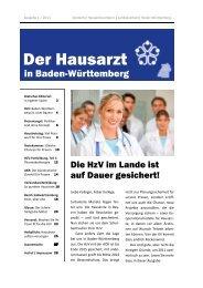 Ausgabe 1 / 2011 - Deutscher Hausärzteverband Landesverband ...