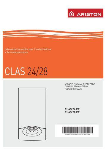 Manuale di regolazione e taratura delle caldaie con for Caldaia ariston clas 24 ff