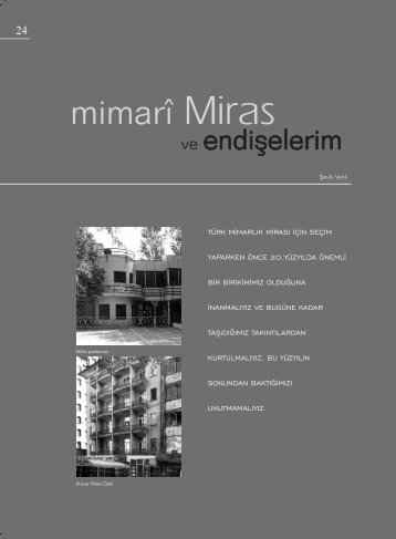 Mimari Miras (.pdf)