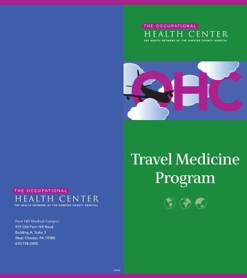 Travel Medicine Program - The Chester County Hospital
