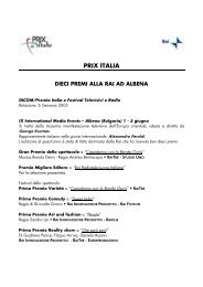 DOWNLOAD FILE - Acrobat pdf - Prix Italia 2009 - Rai.it