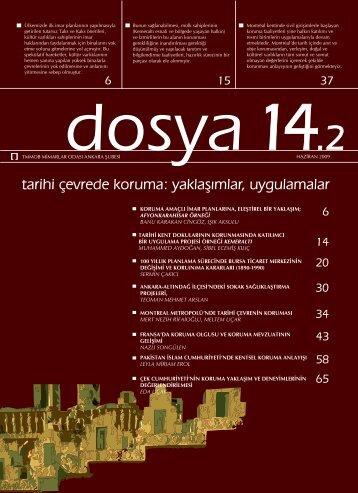 Dosya 14.2: tarihi çevrede koruma: yaklaşımlar, uygulamalar