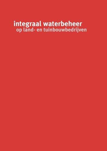 integraal waterbeheer op land- en tuinbouwbedrijven - PCS