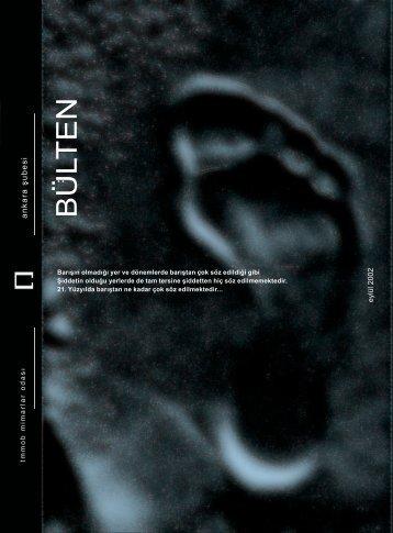 Eylül 2002 - Dosya Konusu: Barış - Mimarlar Odası Ankara Şubesi