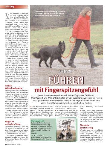mit Fingerspitzengefühl - bei Hunde-logisch.de
