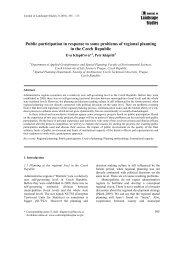 Landscape Studies Public participation in response to some ...