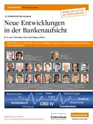 Neue Entwicklungen in der Bankenaufsicht - SKS ...
