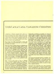 yeni anayasa tasarısı üzerine