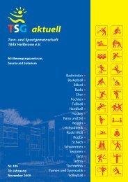 TSG aktuell Nr. 106 November 2009 - TSG Heilbronn