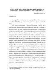 IFETIZAÇÃO - Rede de Estudos do Trabalho