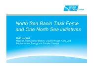 North Sea Basin Task Force and One North Sea initiatives - Zero