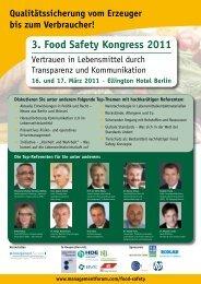 3. Food Safety Kongress 2011