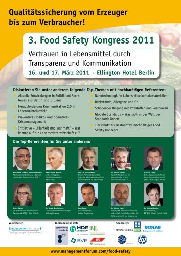 3. Food Safety Kongress 2011