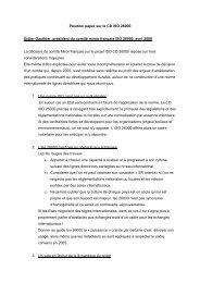 Position paper sur le CD ISO 26000 Didier Gauthier, président du ...