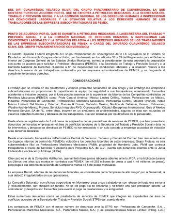 del dip. cuauhtémoc velasco oliva, del grupo parlamentario de ...