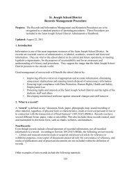 St. Joseph School District Records Management Procedure