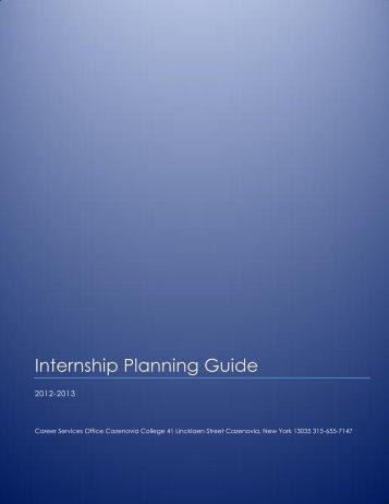Internship Planning Guide - Cazenovia College