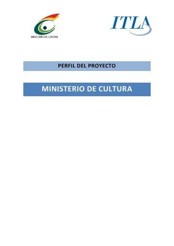 Proyecto Ministerio de Cultura 2013 - ITLA
