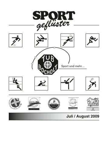TuB Heft Sportgefluester Juli - August 2009 fürs Web - TuB-Bocholt.de