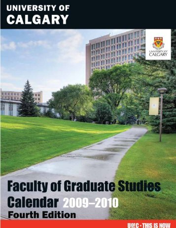 Revised Nov. 23, 2009 - Fourth Edition - Faculty of Graduate Studies ...