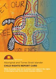 Aboriginal and Torres Strait Islander CHILD RIGHTS REPORT CARD